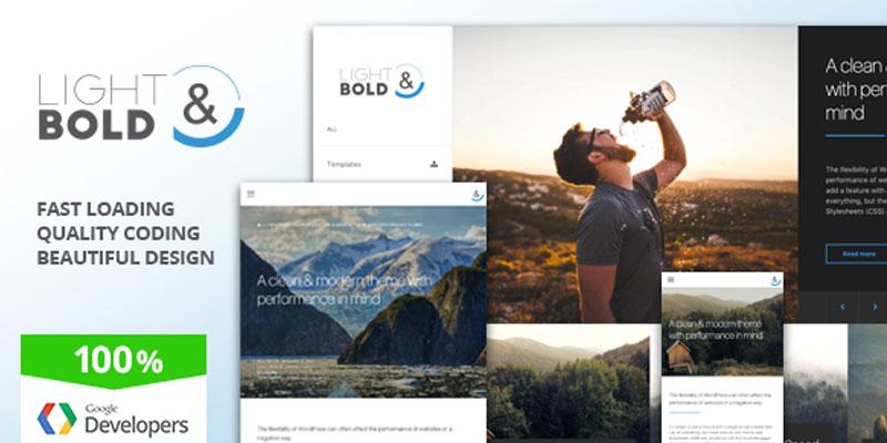 Lightbold - Portfolio WordPress Theme